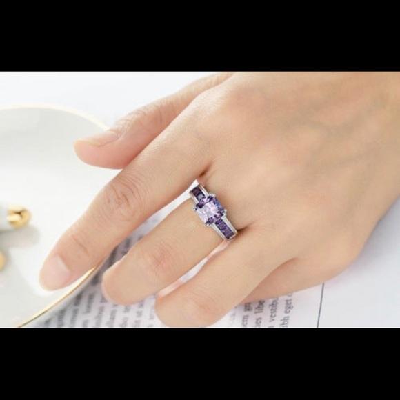 Jewelry - Genuine amethyst in sterling silver. New